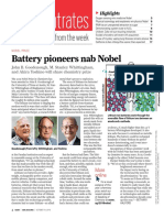 Chemical & Engineering News - Lithium Nobel Prize