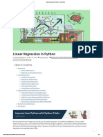 Machine Learning Regression PA1