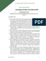 Decreto Supremo 2946 Bolivia