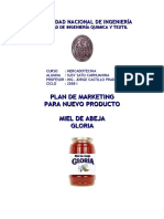 PLAN de MARKETING Miel de Abeja Gloria
