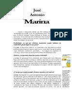 Entrevista a JA Marina