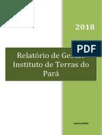 Relatório de Gestão Iterpa 2018