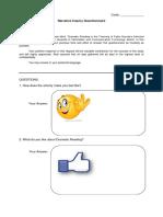 Questionnaire for teaching Literature