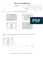 Basics of Venn Diagrams - 1