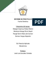 Informe de práctica 3