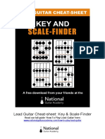 Lead Guitar Cheat Sheet Key Scale Finder V6