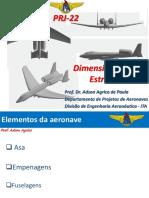 Dimensionamento Estrutural - Departamento de Projetos de Aeronaves - Divisao de Engenharia Aeronautica - ITA SJK