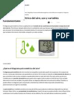 Diagrama Psicrométrico Del Aire, Uso y Variables Fundamentales