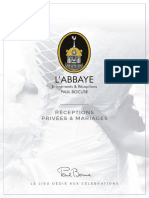 Brochure Abbaye Receptions Privees Mariages