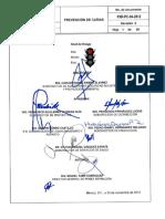 Procedimiento crítico Pemex para proteccion de caidas