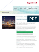 ExxonMobil.2015. Solutions for sour gas treating problems. Flexsorb™ Technology.