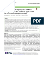 Emerging Trends in Geospatial Artificial Intelligence (GeoAI) - Potential Applications for Environmental Epidemiology