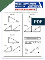 Ejercicios de Triangulos Notables Para Segundo de Secundaria
