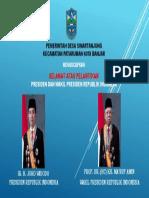 Selamat Atas Pelantikan Presiden dan Wakil Presiden