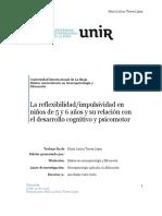 Impulsividad Reflexividad y Desarrollo Cognitivo y Psicomotor