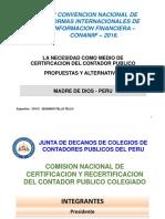 La Necesidad Como Medio de Certificacion Del Contador Publico