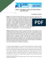 Os Projetos Federalistas e Centralistas na Gênese dos Partidos Políticos entre 1930 e 1933