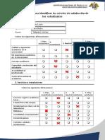 Cuestionario Para Identificar Los Niveles de Satisfacción de Los Estudiantes KENIA