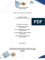 Unidad 2 Paso 4 Descripción de La Información_Grupo70