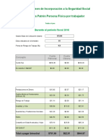Calculadora ISR salarios 2019