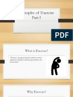 Principles of Exercise Part I