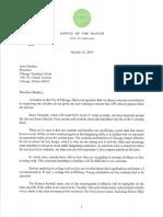 Mayor Lori Lightfoot letter to Chicago Teachers Union