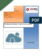 Paradigmas Principales o Clásicos en Sociología 1