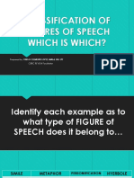 Classification of Figures of Speech Let Sept 2017