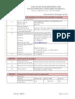 Msds Polipropileno 20c65na - Propilco