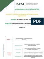 MONSERRAT ROBLES DURAN Actividad 2. Analizando Las Disciplinas Del Comportamiento Organizacional