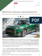 MINI Presentó en Autoclásica Su Edición Limitada 60 Años _ RPM _ El Cronista