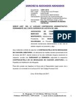 Escrito Medida Cautel Subsana Monterrico.