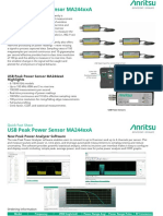 Anritsu USB Peak Power Sensor MA244xxA Quick Fact Sheet 11410-01143A