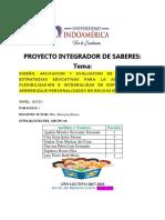 Proyecto integrador sabere