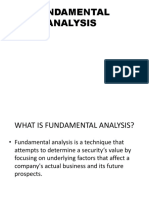 Fundamental Analysis - BBA v Sem