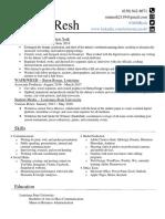 resume - monica resh