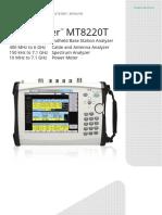 Anritsu BTS Master MT8220T Product Brochure 11410-00717T