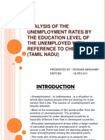 Analysis of the Unemployment Rates by the Education- Ppt