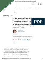 Business Partner Approach_ Customer Vendor Integration to Business Partners (CVI) _ SAP Blogs