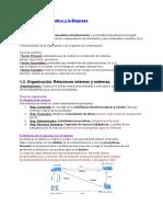 AOF Resumen Tema 1 Empresa y Informática.