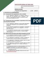 Lista de Verificación Cumplimiento Norma Iso 45001