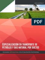 ESPECIALIZACIÓN EN TRANSPORTE DE PETROLEO Y GAS NATURAL POR DUCTOS