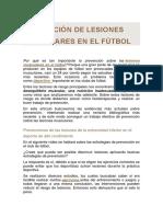 Prevención de Lesiones Musculares en El Fútbol