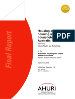 AHURI Final Report No192 Housing Affordability, Housing Stress and Household Wellbeing in Australia