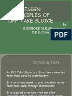 Design Principles of Offtake Sluice