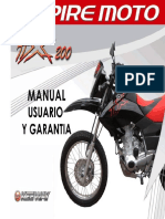 Manual Usuario y Garantia Moto TX