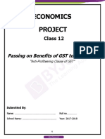 Passing on benefits of gst