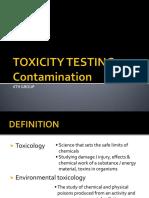 Toxicity Testing Contamination .Kel.6