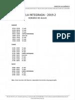 Horário Capela Integrada - 2019.2