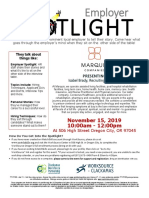 Employer Spotlight November 2019